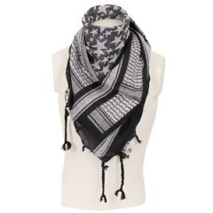 Stars Shemagh Headscarf - White and Black