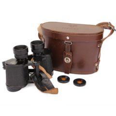 Swedish Army WW2 Binoculars with Leather Case