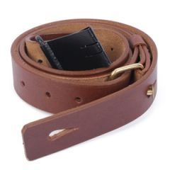 Swiss Army Mauser M96 Sling - Brown Leather Thumbnail