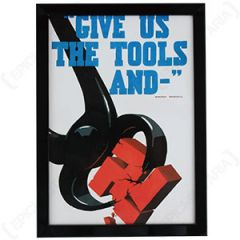 WW2 British Give Us The Tools Framed Print