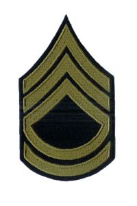 Dark blue Technical Sergeant Stripes with Olive detail