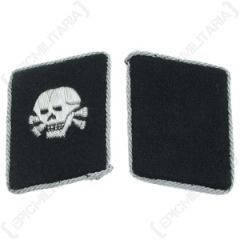 Totenkopf Officers Collar Tabs - Imperfect Thumbnail