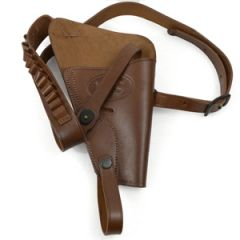 US 38 Revolver Holster - BROWN LEATHER Thumbnail