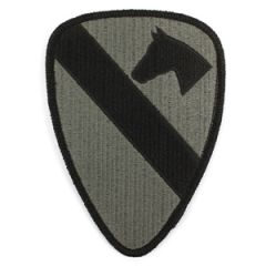 US Army 1st Cavalry Olive and Black Patch