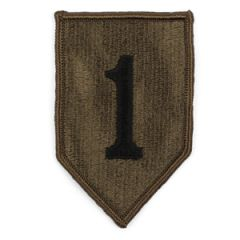 US Army 1st Infantry Division Olive and Black Patch