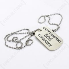Band of Brothers Dog Tag - Engraved Easy Company 506 Currahee - Front