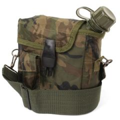 US Canteen and Cover with Shoulder Strap - Camo Thumbnail