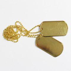 US Dog Tags - Gold - Thumbnail