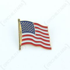 Front of metal US Flag Pin Badge