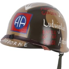 US M1 Helmet with Liner - 82nd Airborne Division Tribute Design Thumbnail