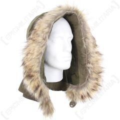 US M51 Parka Hood with Faux Fur - Olive Drab Main & Thumb