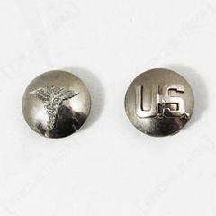 US Medic and Monogram Collar Discs - Faded Thumbnail