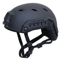 Black US Paratrooper Helmet with Rail Thumbnail