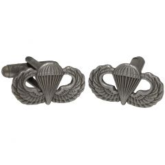 Pair of US parachute Wings Cuff Links facing front