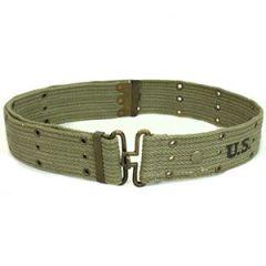 WW2 US Olive Pistol Belt - Brass Thumbnail