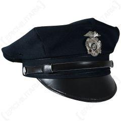 US Police 8 Point Visor Cap - Dark Blue