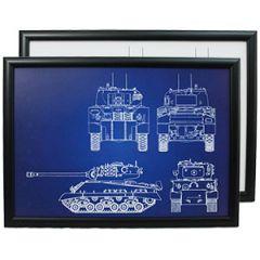 US M4 Sherman Tank Framed Patent Print Thumbnail