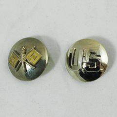 US Signals and Monogram Collar Discs - Gold Flags Thumbnail