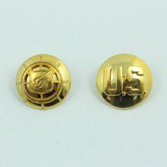 US Transportation Corps and Monogram Collar Discs - Gold - Thumbnail