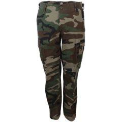 US Womens BDU Woodland Camo Trousers Thumbail