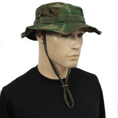 US Woodland Rip Stop Boonie Hat - Thumbnail
