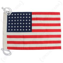 Front of small Vintage-Style US Flag with 48 Stars