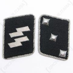 WW2 German Waffen-SS Untersturmfuhrer Collar Tabs