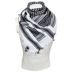 White and Black Cotton Shemagh Thumbnail