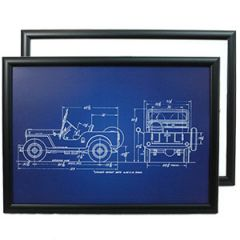US Willys Jeep Framed Patent Print Thumbnail