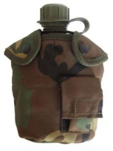 Woodland Camo Water Bottle With Cup and Cover