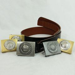 German Black Leather Belt and WW1 Buckle Thumbnail