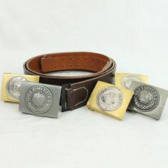 German Brown Leather Belt and WW1 Buckle Thumbnail