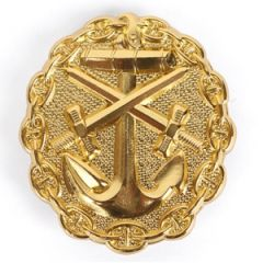 WW1 Imperial German Naval Wound Badge - Gold Thumbnail