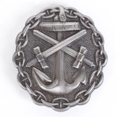 WW1 Imperial German Naval Wound Badge - Silver Thumbnail