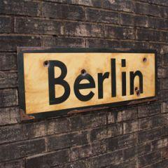 WW2 Berlin Road Sign - Thumbnail
