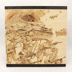 El Alamein Woodburning Artwork Thumbnail