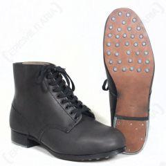 German Combat Low Boots - Black
