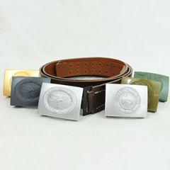 WW2 German Brown Leather Belt and Buckle Thumbnail