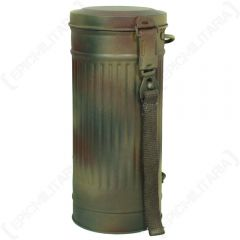 WW2 German Gas Mask Canister - Normandy Camo