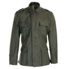 WW2 German SS M43 Field Grey Tunic - Imperfect