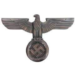WW2 German Wall Eagle - Antique Bronze - Thumbnail