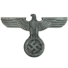WW2 German Wall Eagle - Antique Silver - Thumbnail