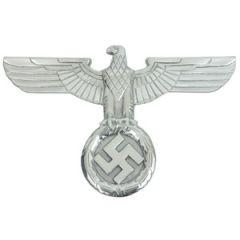 WW2 German Wall Eagle - Silver - Thumbnail