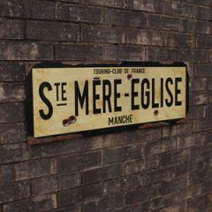 WW2 Ste Mere Eglise Road Sign - Thumbnail
