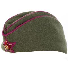 WW2 Russian Officers Pilotka Cap Thumbnail