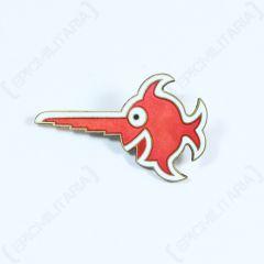 Economy 9th Flotilla U-Boat Badge - Red Laughing Swordfish