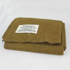 WW2 US Mustard Brown Wool Blanket