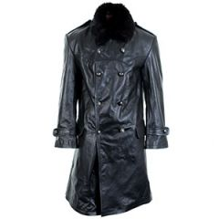 WW2 Russian Navy Officer Leather Coat Thumbnail