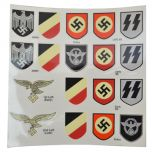 WW2 German helmet Decal Sheet
