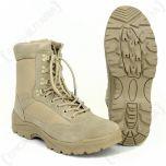 Khaki Tactical Army Boots with YKK Zipper - main